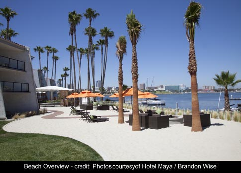 The 6 500 Sq Ft Beach Merges Mayanexperience With Quintessential Southern California Resort Style Feeling Hotel Maya